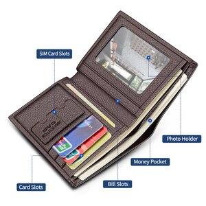 Image 3 - Laorentou Men Wallet Genuine Leather Casual Wallet for Men Short Wallet Standard Wallets Card Holders Vintage Luxury Man Purse