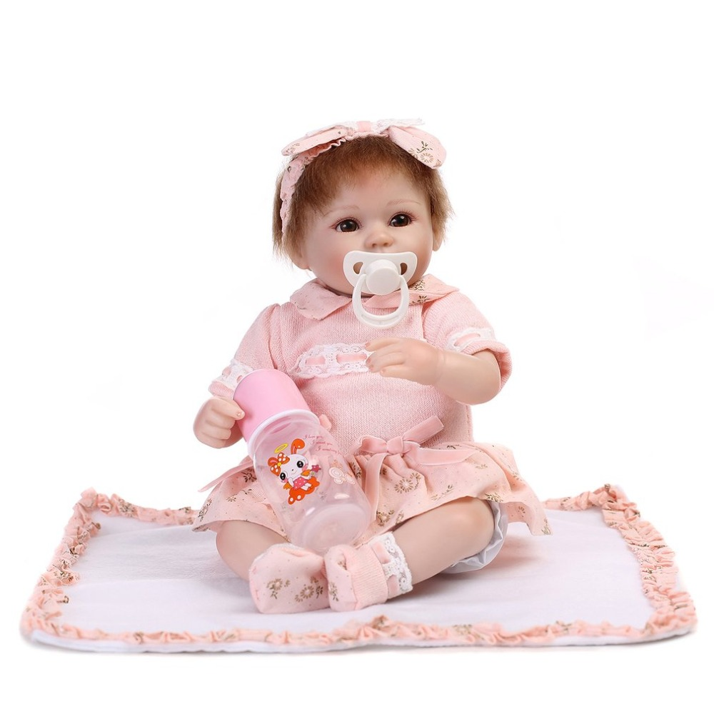 43cm Lovely Princess bebe Reborn Baby Doll Toys Soft Realistic Lifelike Newborn Playmate Play House Toys Safety Gifts For Girls
