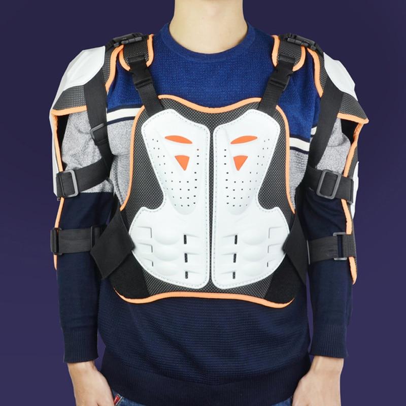 Haute qualité Moto Veste Body Armor Moto Motocross Moto Gilet Dos Poitrine Protecteur Hors-Route Dirt Bike Équipement De Protection