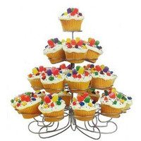 4 Tier tree shaped wrought iron cupcake holder for wedding party cake dessert display