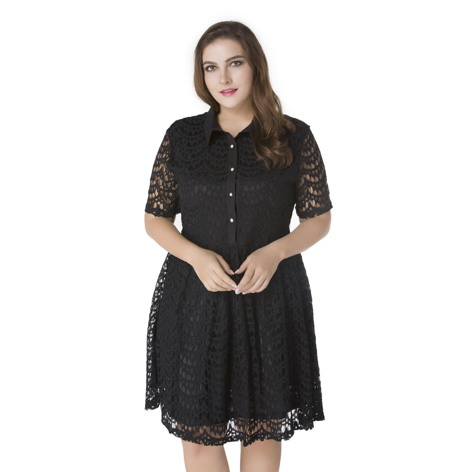 e4a4568cef58 Womens Summer Elegant Lace Clothing Ladies Cute Black Red Green Party  Casual Dress Plus Size 6XL 7XL Vestidos -in Dresses from Women s Clothing  on ...