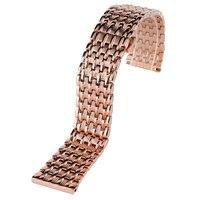 18/20/22mm Rose Gold Edelstahl Uhrenarmbänder Push Botton Versteckten Verschluss Armband + 2 frühling Bars