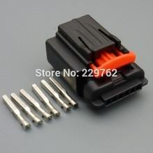 2ets 6 coches pin impermeable conectador del alambre eléctrico plug conectores de cable automático carcasa hembra 1438153-5