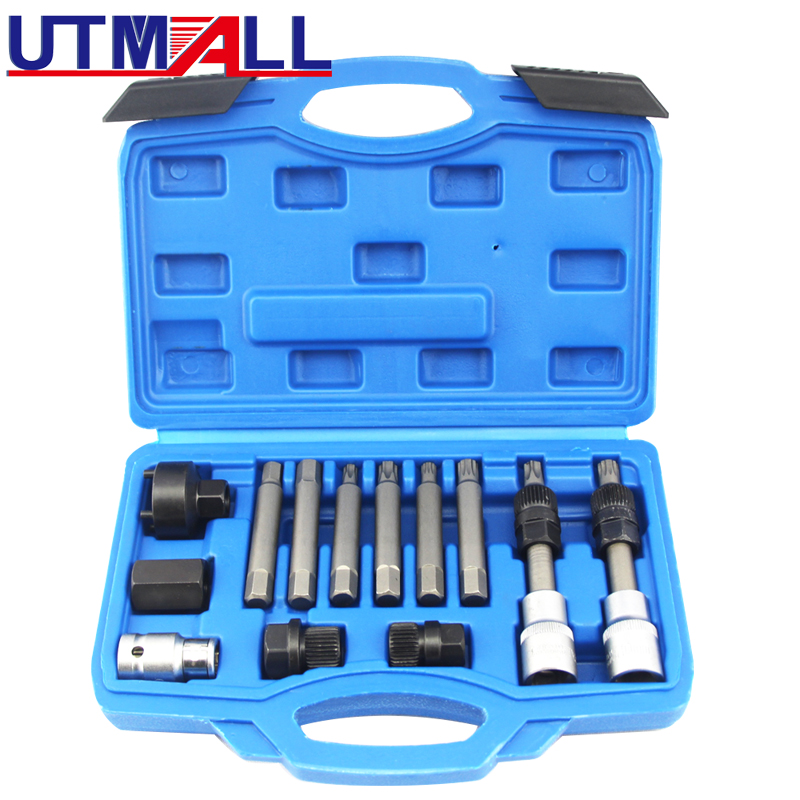 13pcs Alternator Freewheel Pulley Puller Removal Engine Auto Tool Set NEW