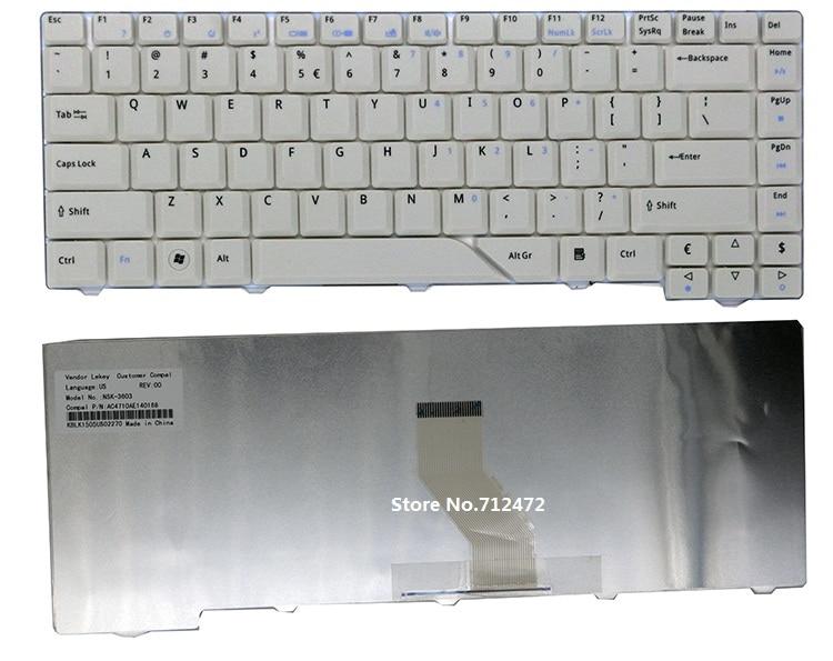 Galleria fotografica SSEA New white US Keyboard for <font><b>Acer</b></font> Aspire 5310 5310G 5315 5320 5510 5520 5520G 5710 5715Z 5720 5720G 5720Z 5720ZG 5730 5730g