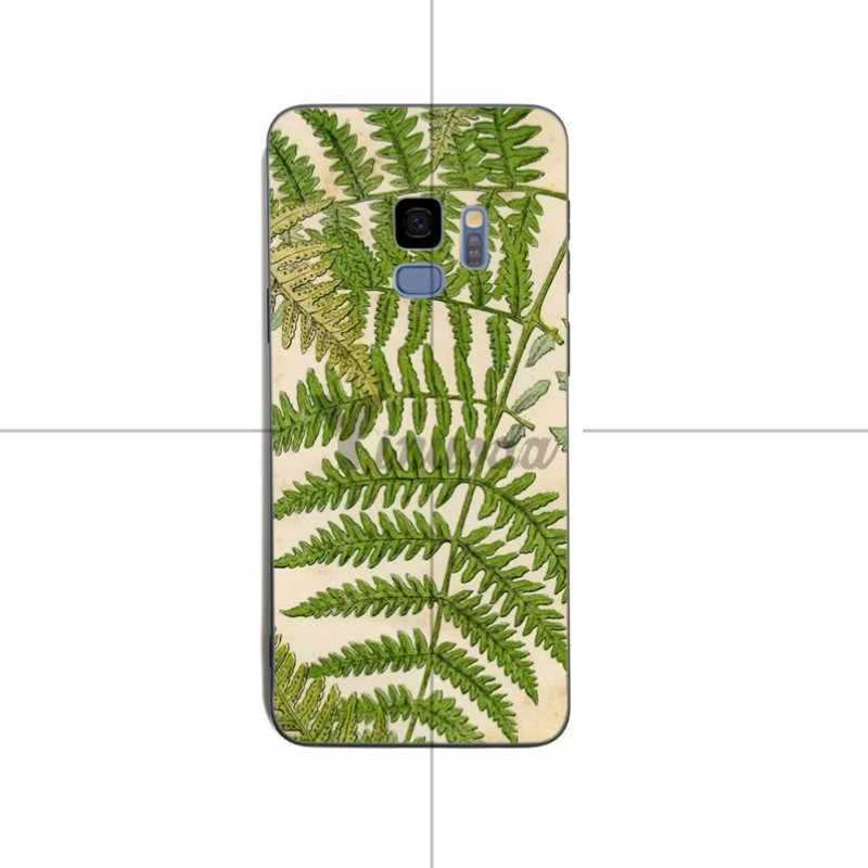 Yinuoda Tropical Leaves ดอกไม้ Mint Feather ป้องกันสำหรับ samsung S6 edge S8 S9 S7 S9Plus หมายเหตุ 8 9