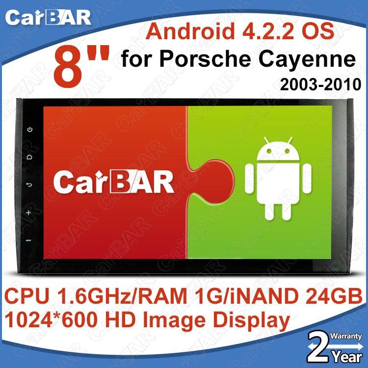 C200 большой Экран Android 4.2.2 автомобильный DVD GPS Радио аудио плеер для Porsche Cayenne 2003 2010 с 1024*600 Разрешение carbar