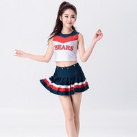 Popular Women Sexy Cheerleading Uniform Performance Costume Football Babes Models Souvenirs Girls Party Apparel Stage Suit
