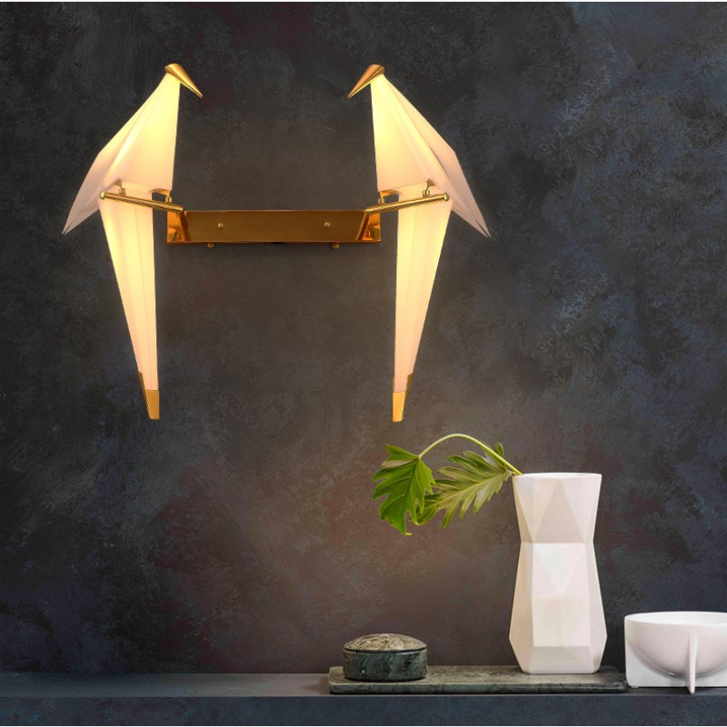 Nordic Postmodern Bedroom Creative Parrot Wall Light Bedside Balcony Restaurant Simple Bird Decoration LED Lamp Free Shipping postmodern simple bedside wall lamp nordic creative cafe bar livingroom bedroom aisle background decoration lamp free shipping