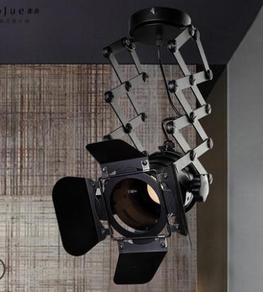 Retro Industrial  Iron Searchlight Pendant Lamp black color iron lamp