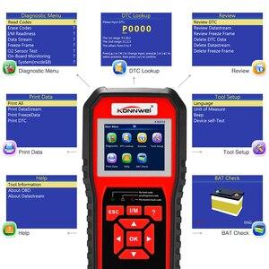Image 3 - KONNWEI KW850 Code Reader Diagnostic Tool OBD2 Auto Scanner Battery voltage test Free update KW 850  OBDII EOBD Car Fault Engine