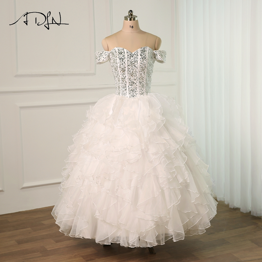 Wedding Gowns With Ruffles: ADLN Fashion Wedding Dress Sweetheart Beading Robe De