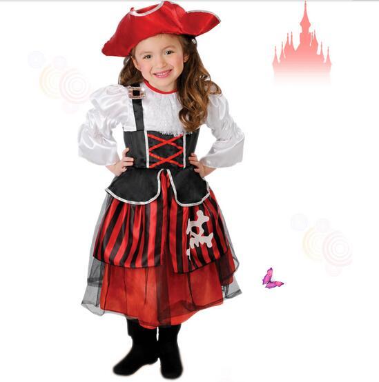 muchachas del pirata cosplay del partido de halloween navidad disfraces nios nios abult piratas del caribe