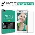 Original seyisoo real 2.5d 9 h 0.3mm protector de pantalla de cristal templado para huawei p9 plus huaweip9 delgada plus p9plus película protectora