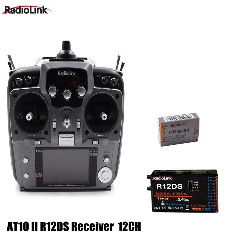 RadioLink เดิม AT10 II 2.4 กิกะเฮิร์ตซ์ 12CH RC เครื่องส่งสัญญาณ R12DS ตัวรับสัญญาณ PRM 01 แรงดันไฟฟ้าสุทธิโมดูลสำหรับ RC Drone Quadcopter-ใน ชิ้นส่วนและอุปกรณ์เสริม จาก ของเล่นและงานอดิเรก บน   1