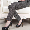 Пятидесяти лет брюки осень свободного покроя брюки завышенной талией среднего возраста женщин эластичные брюки прямые брюки