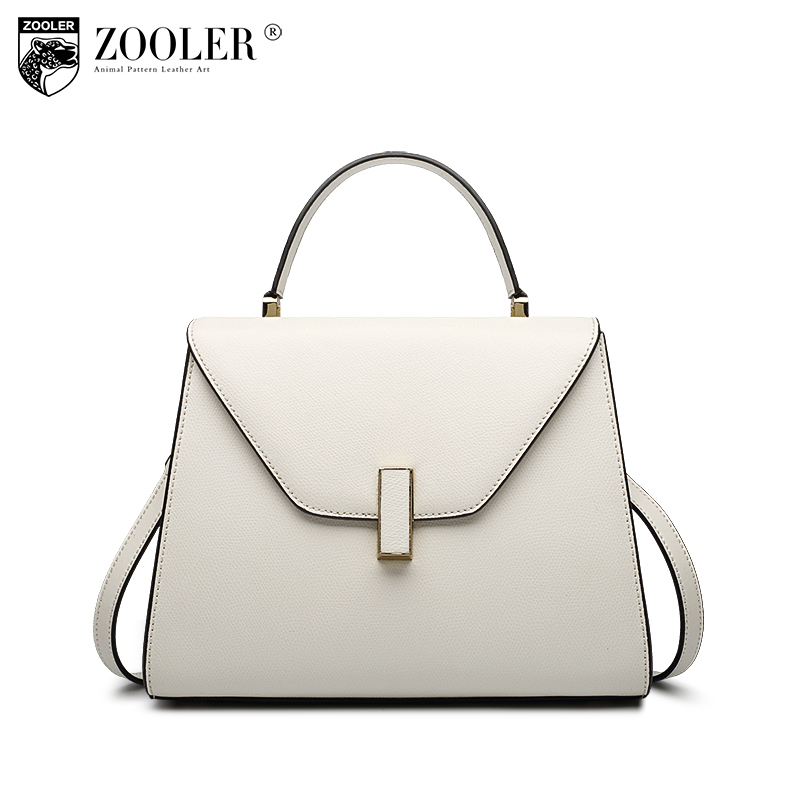 ZOOLER Genuine Leather Casual Street Shopping Tote Bags Handbags Women Famous Brands Female Messenger Bag Ladies Crossbody Bags zooler genuine leather shoulder bags handbags women famous brands female dumplings crossbody bag ladies hobos messenger bag tote