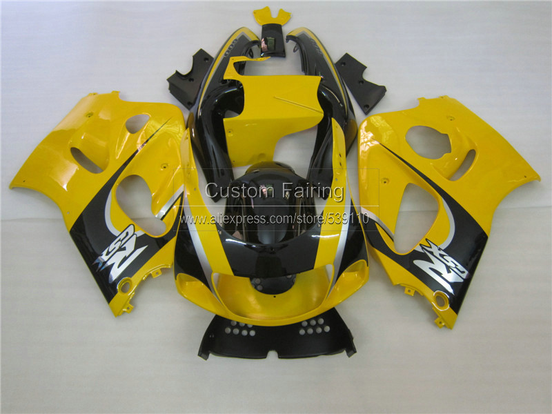 Motorcycle Fairing kit for SUZUKI GSXR 600 750 1996 1997 1998 1999 2000 black yellow GSXR600/750 96-99 00 ABS fairings set ZE14