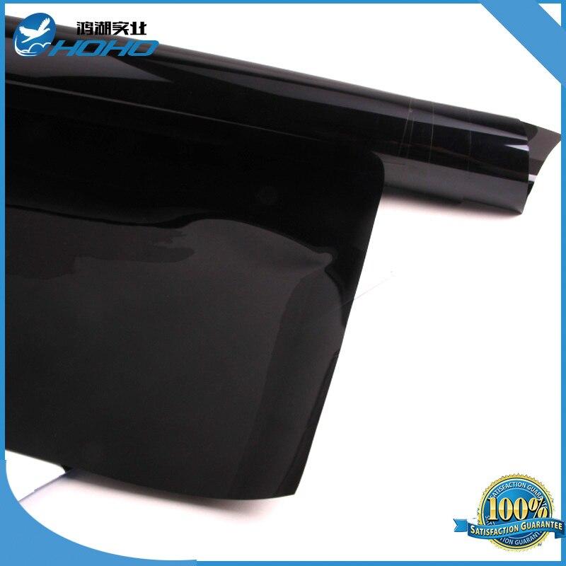 Black Color 5% VLT Automotive Window Tint Film Roll 60 x 65ft/1.52mx20m HIR0500 Nano Ceramic Film