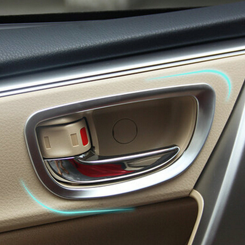 car abs chrome inner door handle cover bezel garnish trim inside frame bowl catch for lhd. Black Bedroom Furniture Sets. Home Design Ideas