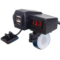 Motorcycle Accessories Waterproof Charger Dual USB Cigarette Lighter Led Charging Equipment