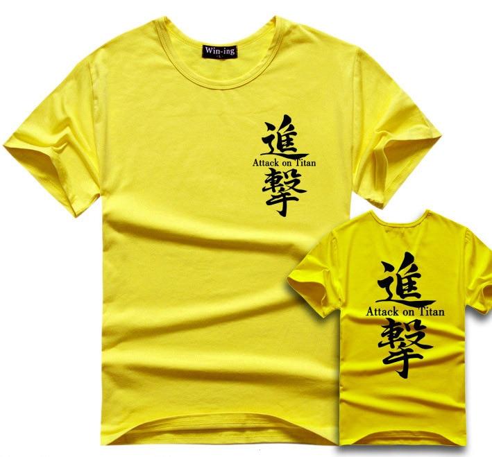 Attack On Titan T Shirt Men Boy Cotton T-Shirt Anime Shingeki No Kyojin Tee Tshirt Survey Corps