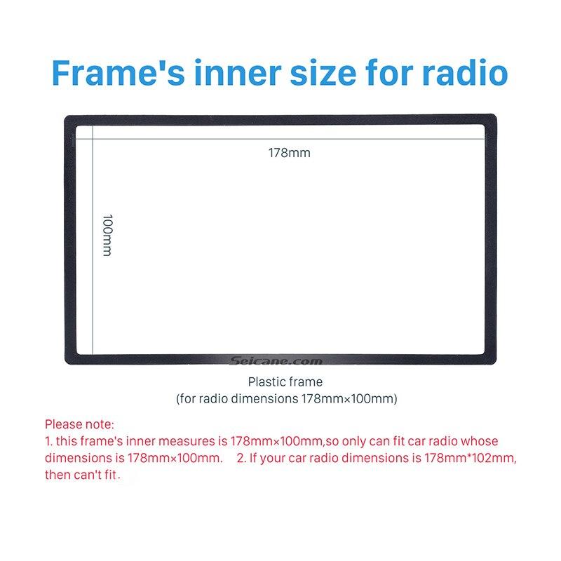 72533772af8c Seicane 2 Din Car Radio Fascia Frame Trim Kit Dashboard Panel Double Din  Audio Mount Refit Kit Bezel 2DIN For HONDA FIT Jazz Car ~ Free Shipping  July 2019