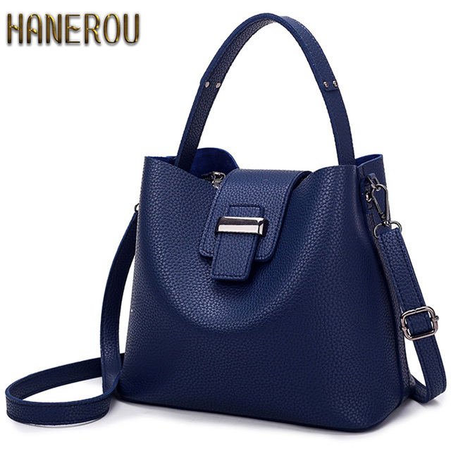2017 Fashion PU Leather Handbags Women Tote Shoulder Bag Bucket Women Bag Luxury Designers Famous Brand Ladies Messenger Bag Sac