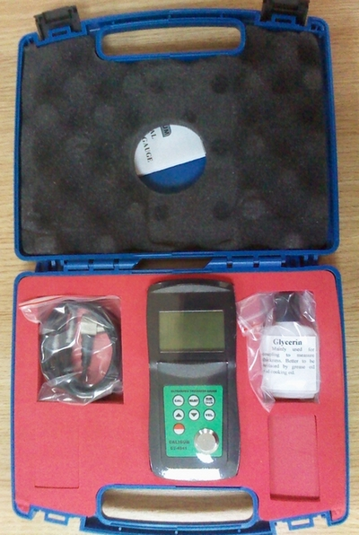 Hard material\aluminum\copper \zinc ultrasonic wave conductor thickness tester
