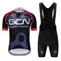 2019 Pro Team Cycling Clothing With 9D GEL PAD Bib Pants Short Sleeve MTB Global Cycling Jersey Bike Bib Shorts