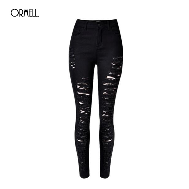 2016 Summer Ripped Denim Women Skinny Jeans Female Holes On Legs Pants For  Girls Fashion Style - Compare Prices On Girls Ripped Skinny Jeans- Online Shopping/Buy