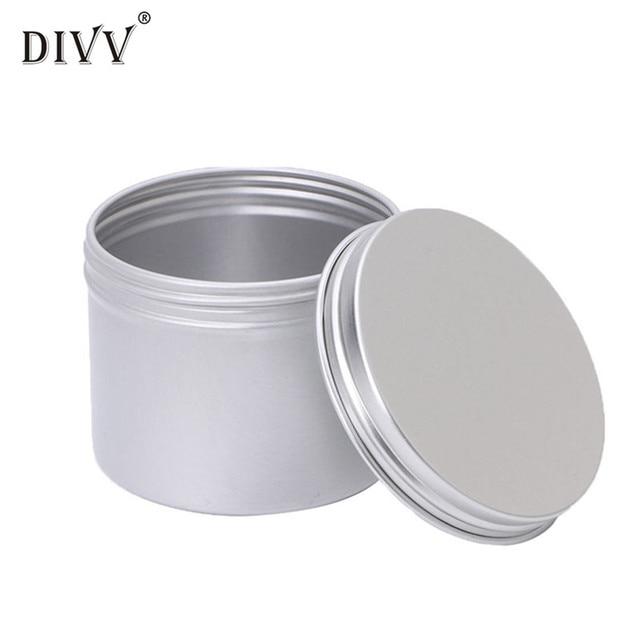 Jewelry Box Aluminium Empty Cosmetic Pot Jar Tin Container Silver Storage  Box Screw Lid Craft U70831