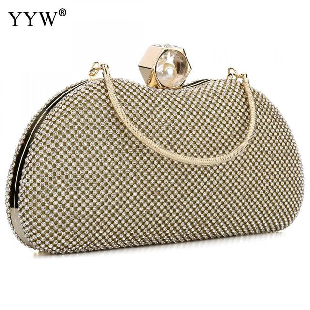 99a1d2203a2a Famous Fashion Female Evening Party Bag Gold PU Leather Women Handbags  Silver Clutch Bag Black Shoulder Bags Small Crossbody Bag