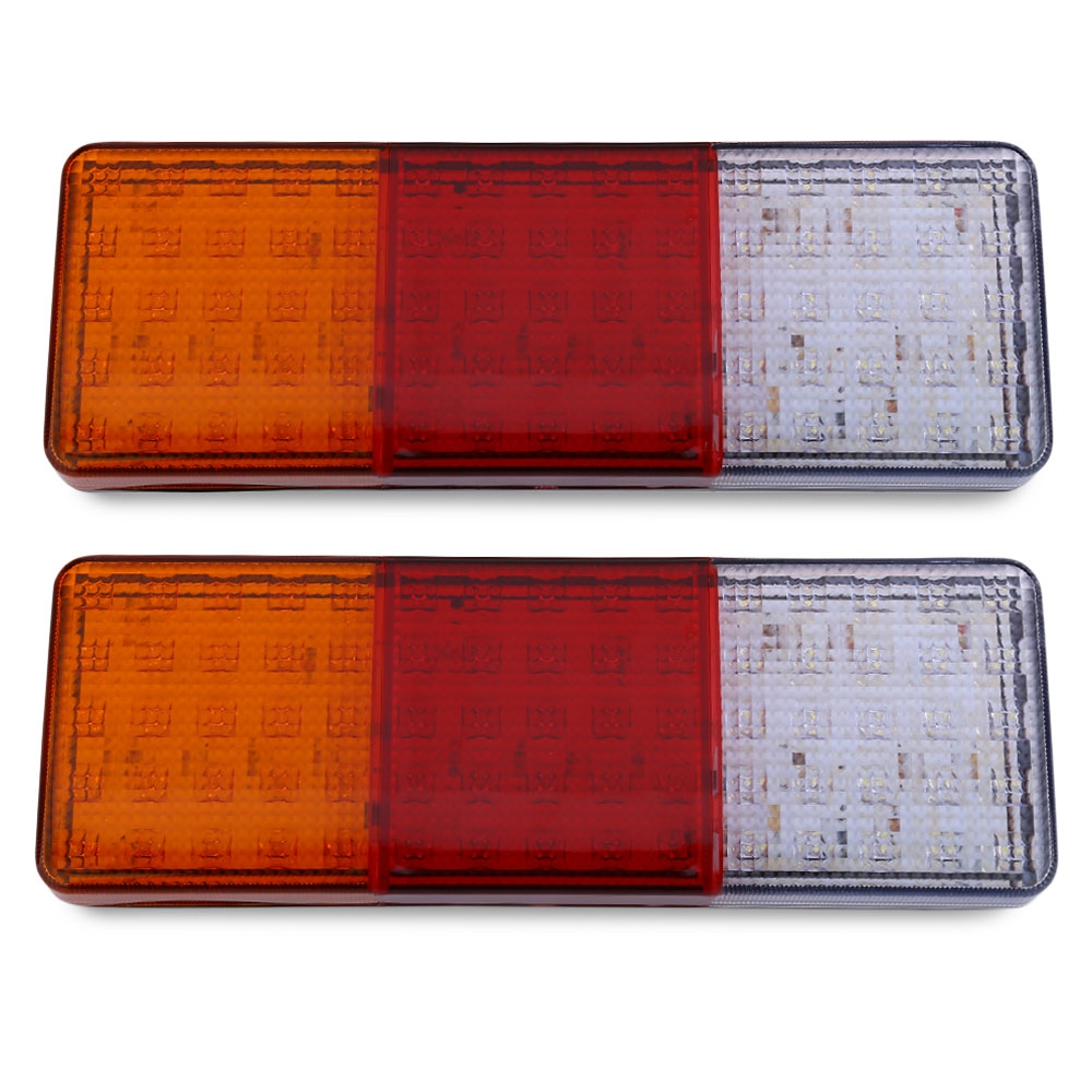 ФОТО More Than 50000 hours lifespan 1 Pair of 12V Trailer Truck 75 LEDs Waterproof Rear Tail Signal Light