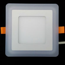 Blue+White Square LED Panel Downlight 5W 9W 16W 24W 3 Model LED Panel Lights AC85-265V Recessed Ceiling Painel Lights CE ROHS