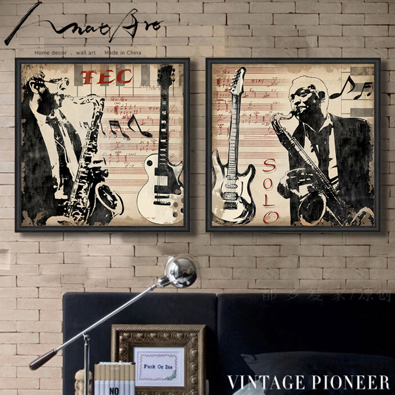 Musical Instrument Saxophone Men Portrait Pop Art Canvas Wall Art Home Decoration Painting The Living Room Office Picture Cafe Office Pictures Decorative Paintingcanvas Wall Aliexpress