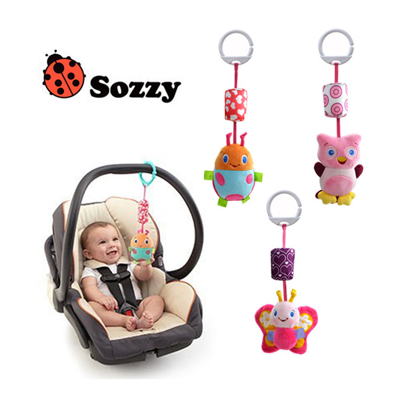 7/colors Sozzy 0-12 months baby crib toys cartoon cute ring bell soft baby toys newborn toys for gift