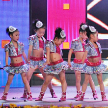 Юбка для сальсы Детские бальные платья танцевальные костюмы для выступлений детские костюмы для джазовых танцев хип-хоп танцевальные костюмы высокого качества