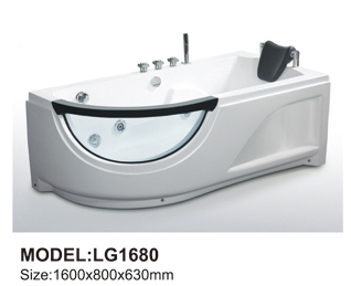Whirlpool bathtub two people with wooden skirt whirlpool bathtub
