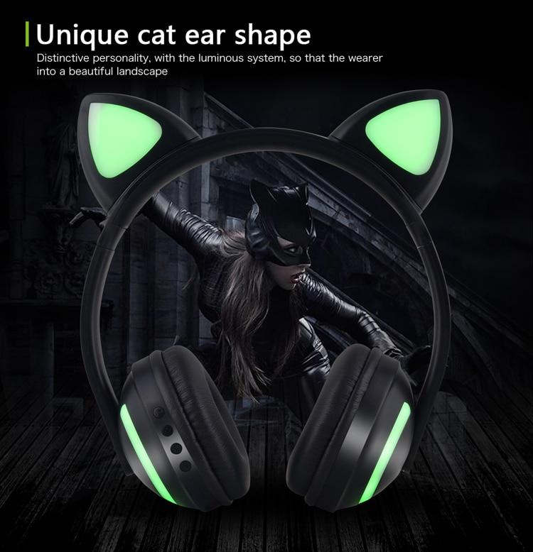 E2232 Flashing Cosplay LED light Cat Ear Headphone (8)