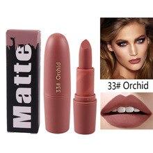 Miss Rose color Mate lápiz labial maquillaje Mate Batom maquillaje de labios impermeable stick para labios maquillaje cosméticos coreano tatuaje de tinta