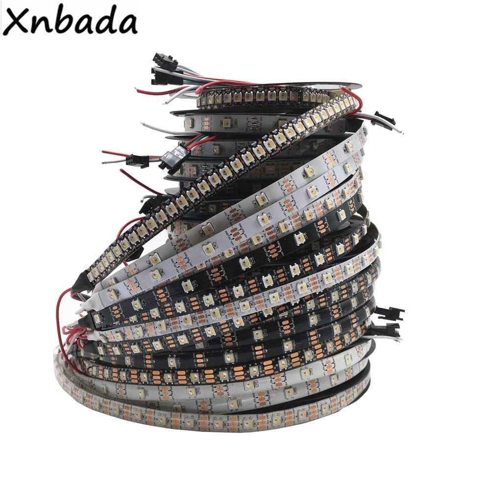 SK6812 RGBW (аналогичный WS2812B) 4 в 1 30/60/144 светодиодов/пикселей/м; Индивидуальная адресная Светодиодная лента IP30/IP65/IP67 DC5V