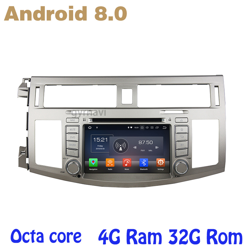 Android 8.0 car dvd gps for toyota Avalon 2006-2010 with Octa core PX5 4G RAM 32G ROM wifi 4g usb auto Multimedia