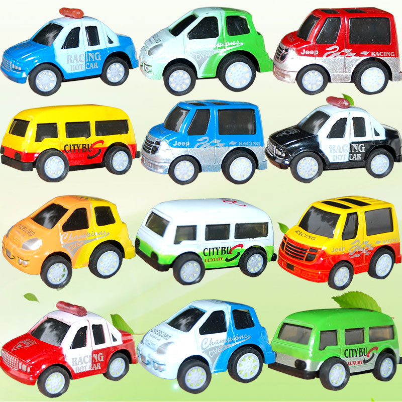12PCS Car Toy 4 Style Colorful Small Cars Toys Alloy Model