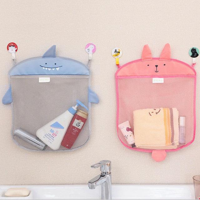 Juguete de baño Precioso Bolso Plegable Respetuoso Del Medio Ambiente de Baño Del Bebé Baño Baño de Malla De Almacenamiento Cestas de Almacenamiento De Juguetes Para El Baño Para Recoger