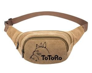 Image 3 - My Neighbor Totoro Anime  Canvas Waist Pack Bag Pouch Belt Travel Hip Casual Fanny Bag Money Phone Belt Bag