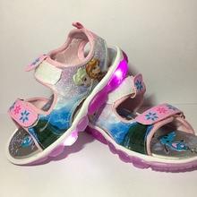 Filles sandales 2017 nouveau Dessin Animé snow queen Elsa Anna chaussures Respirant D'été enfants pu Caoutchouc sport filles princesse chaussures