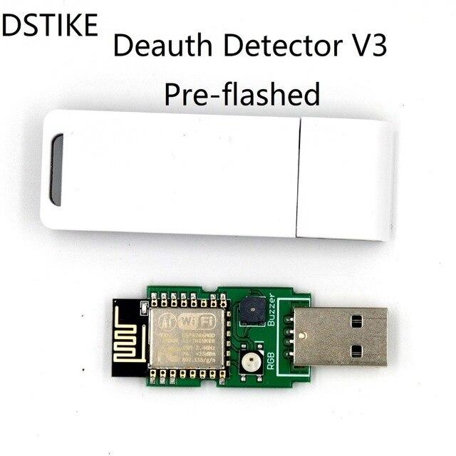 DSTIKE WiFi Deauth detector V3(Pre-flashed) with Case ESP8266 ESP12E USB RGB LED Buzzer NodeMCU  CP2102 Arduino starter Kit