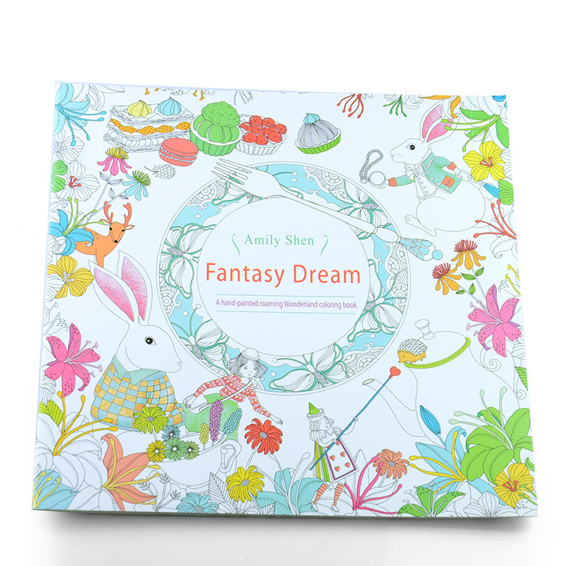 4Pcs Set 24 Pages English Edition Secret Garden Fantasy Dream Enchanted Forest Animal Kingdom Coloring Book Painting In Books From Office School