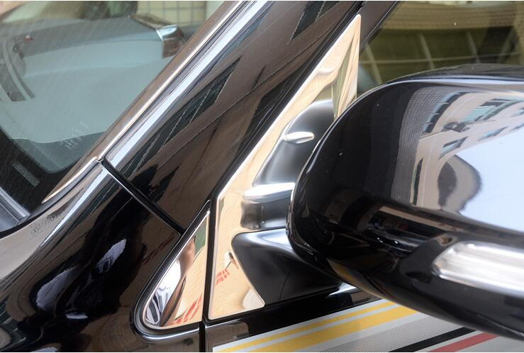 Rear View Window triangle Trim Cover For Toyota Land Cruiser 200 LC200 Prado LC150 Accessories 08 17 in Chromium Styling from Automobiles Motorcycles